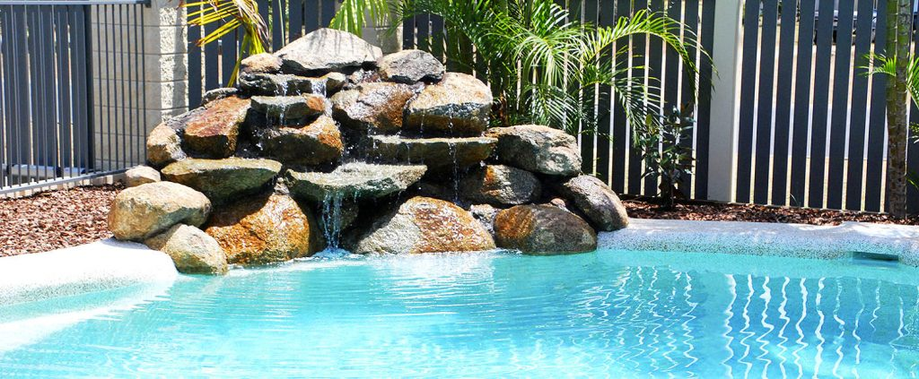 Waterfall Pool Feature